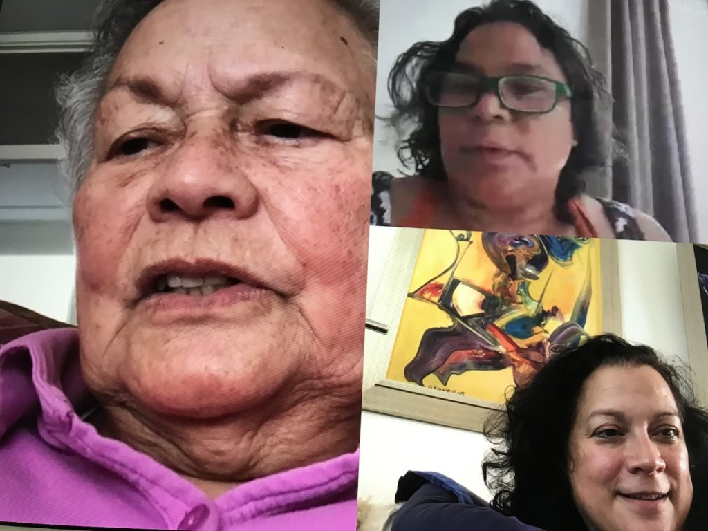 Gezellig Skypen met mijn moeder en zusje
