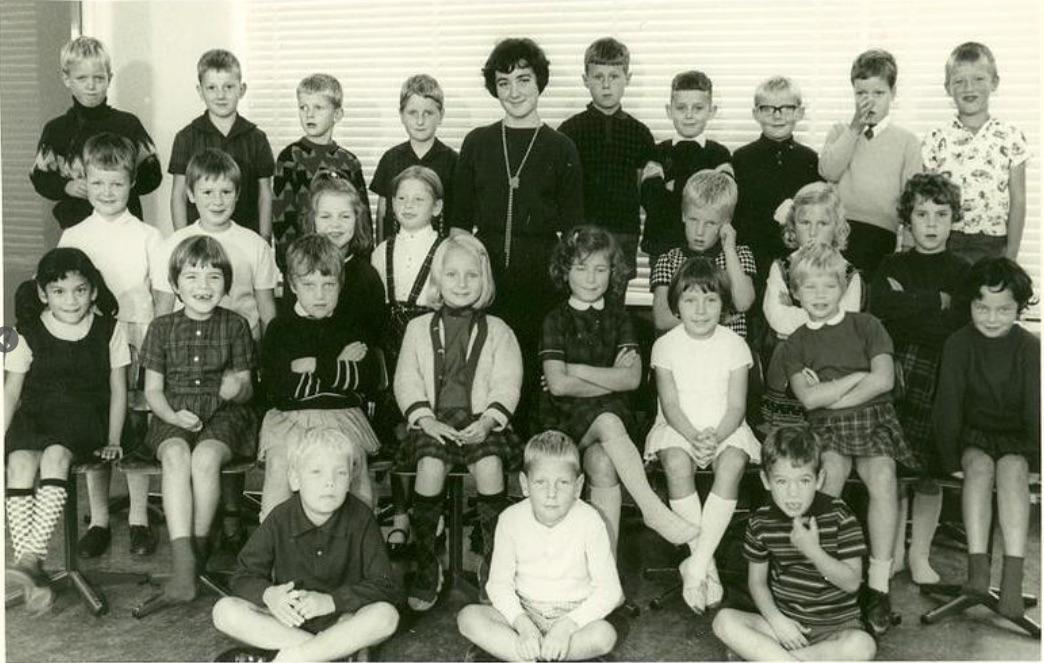In de eerste klas van de lagere school